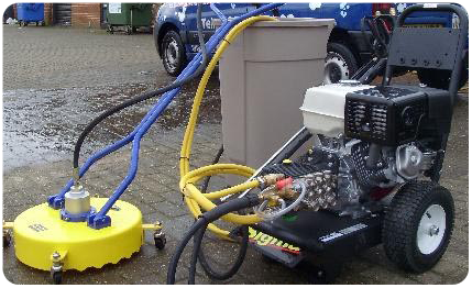 drive cleaning machine